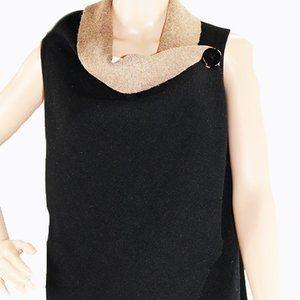 NWT NU Construction Women Cape Vest With Button